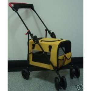 NEPTUNE 3 In 1 Pet Stroller Dog Cat Carrier Bed House Yellow