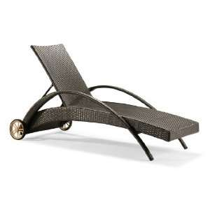 com Outdoor Adjustable Reclining Lounge Chaise Chair Home & Kitchen