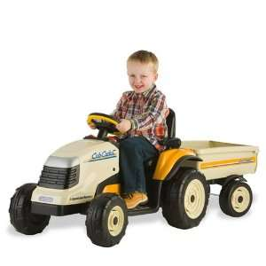 Kids Power Ride On Cub Cadet Lawn Tractor w/Trailer Outdoor/Indoor