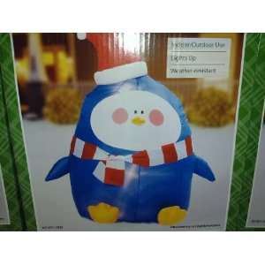 Holiday Time Penguin Santa Christmas Inflatable 4 Ft