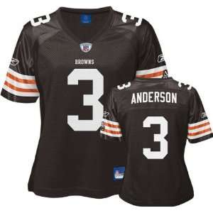 Brown Replica Cleveland Browns Womens Jersey