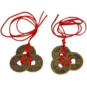 Chinese Feng Shui Coins for Wealth and Success   2 sets of