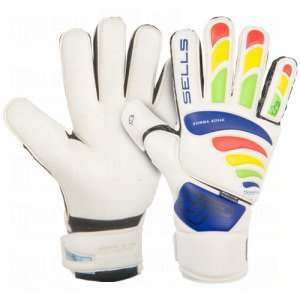 Sells Total Contact Aqua Goalie Gloves White/Royal/Yellow/Red/Green/8