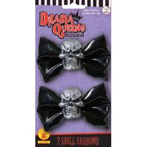 Lets Party By Rubies Costumes Skull Hairbows / Black   Size One   Size