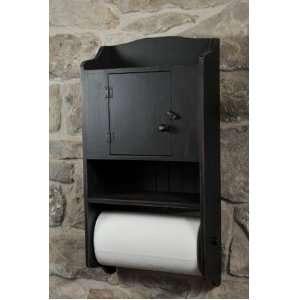 Country Rustic Primitive Cabinet Paper Towel Holder/shelf