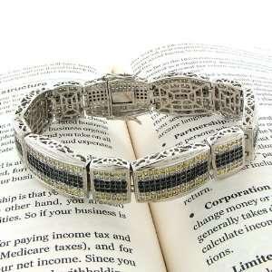 Diamond Micro Pave Milano Cubic Zircoina (CZ) Prong Set Link Bracelet