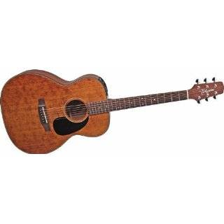 EF740SGN OM Cedar Acoustic Electric Guitar, Satin Brown with Case