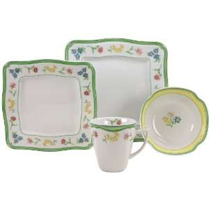 Piece Fine Porcelain Dinner Ware Set   Anna Lisa Floral Decor Kitchen
