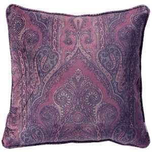 Paisley Cotton Velvet Cushion Pillow Cover 17/18   Red