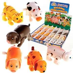 4 X Clockwork Farm Animals Toys & Games