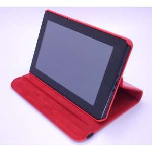 Leather Case for Kindle Fire (Color Red)  Players & Accessories