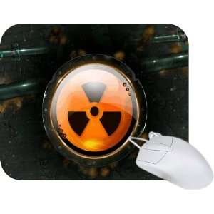 Rikki Knight Radioactive Nuclear Button Design Mouse Pad