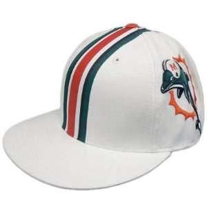 NFL Miami Dolphins Reebok Flat Bill Flex Fit Hat Cap Large