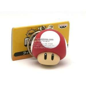 Super Mario Brothers Keychain Red Mushroom Toys & Games