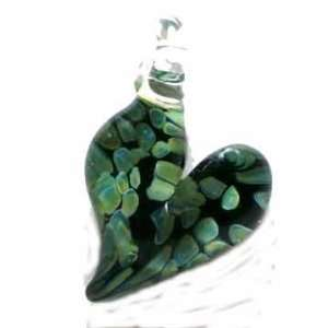 Hand Blown Glass Heart Pendant Arts, Crafts & Sewing