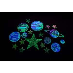 20 Piece Glow in the Dark Galaxy Stars  Toys & Games