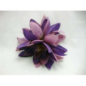 Purple Water Lily Hair Flower Clip