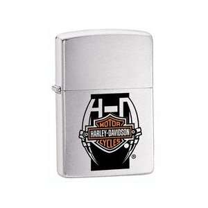 Zippo Harley Davidson Stripe One Surface Lighter (Silver