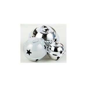 of 72 Color Works Silver/White Bell Christmas Ornament