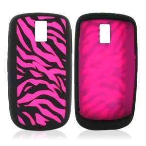 For MyTouch 3G Silicone Skin Case Hot Pink Zebra Electronics