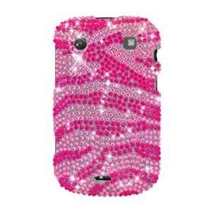 BlackBerry Bold 9900 9930, Hot Pink Zebra Full Diamond Electronics