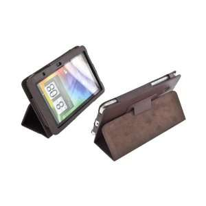 For HTC EVO View 4G HTC Flyer Brown Leather Case Cover