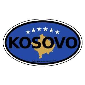 Kosovo Flag Car Bumper Sticker Decal Oval Automotive