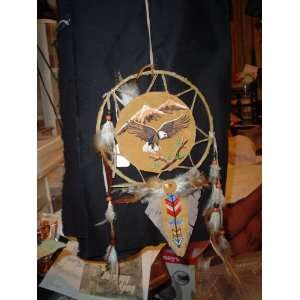 MANDELLA DREAM CATCHER (LEATHER BEADS AND FEATHERS)