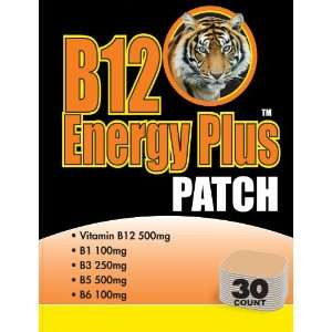 B12 ENERGY PLUS PATCHES   30 DAY SUPPLY Health & Personal