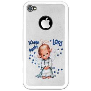 iPhone 4 or 4S Clear Case White Its Me Again Lord Prayer