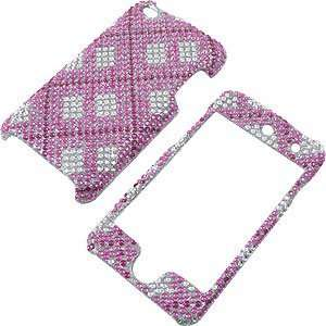for iPod touch (4th gen.) Hot Pink Plaid Full Diamond Electronics