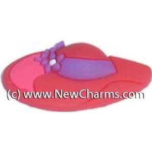 Big Red Hat Shoe Snap Charm Jibbitz Croc Style Jewelry