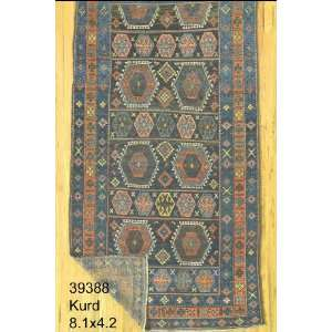 4x8 Hand Knotted Kurd Kurdistan Rug   42x81: Home & Kitchen