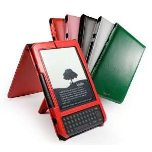 Luv Traditional flip leather case cover & stand for  Kindle 3