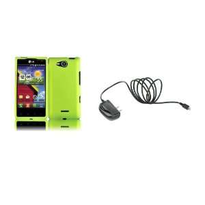 LG Lucid (Verizon) Premium Combo Pack   Neon Green Hard