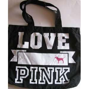 Secret Pink Tote Bag Love Pink Color Black