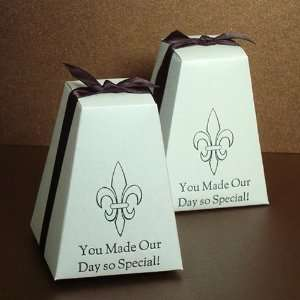 Personalized Pedestal Wedding Favor Box Health & Personal