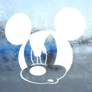 Disney White Decal Mickey Mouse Car Window Laptop White