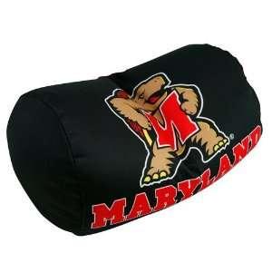 Maryland Terrapins Black Microbead Travel Pillow