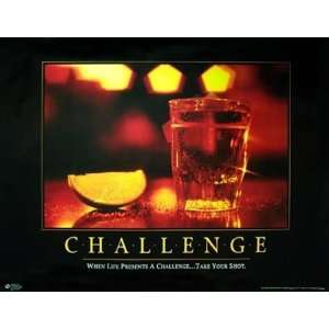 Challenge Alcohol Drinking College Motivational Poster 24 x 30 inches