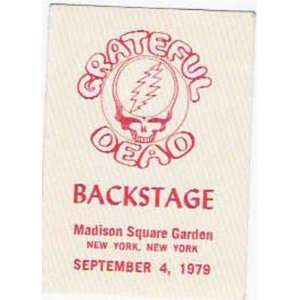 Grateful Dead Backstage Pass MSG New York 1979: Home & Kitchen