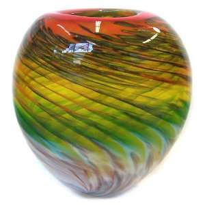 Hand Blown Murano Art Glass Vase with Certificate A47