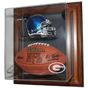 Up Mini Helmet and Football Display Case with Engraved NFL Team Logo