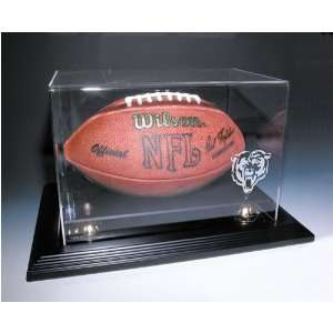 Chicago Bears NFL Zenith Football Display Case (Mahogany)