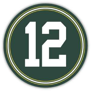 Rodgers 12 #12 Green Bay Packers NFL Car Bumper Sticker Decal 5 X 5