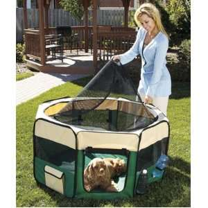 Soft Sided Pet Playpen   Removable Zip Off Roof