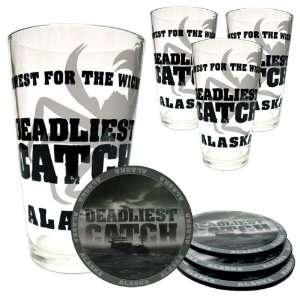 Deadliest Catch Pint Glass + Coaster Set