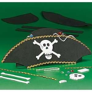 Foam Pirate Hat Craft Kit 12 pc Toys & Games