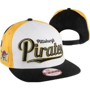 Pittsburgh Pirates New Era Script Wheel Snapback Adjustable Hat