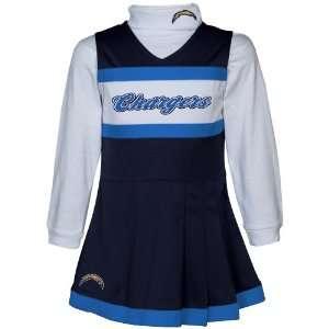 Reebok San Diego Chargers Preschool Girls Navy Blue White